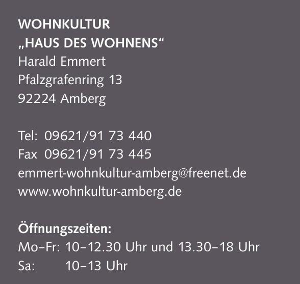 """Wohnkultur """"Haus des Wohnens"""" - Harald Emmert"""