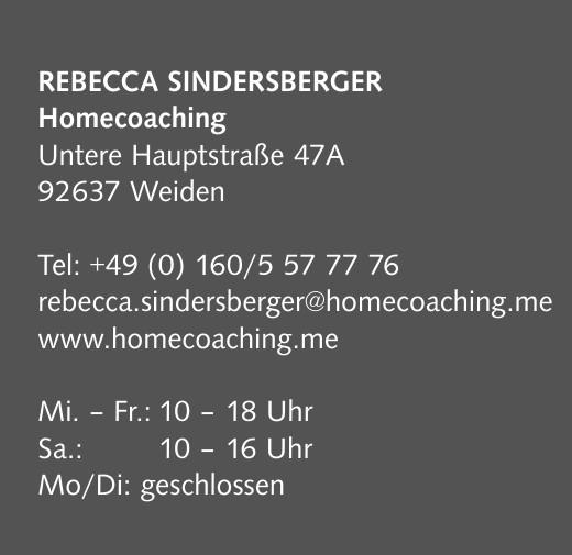 Rebecca Sindersberger Homecoaching